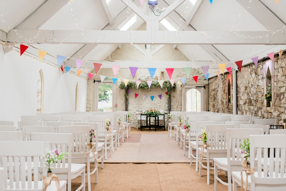 the ceremony barn at wyresdale park