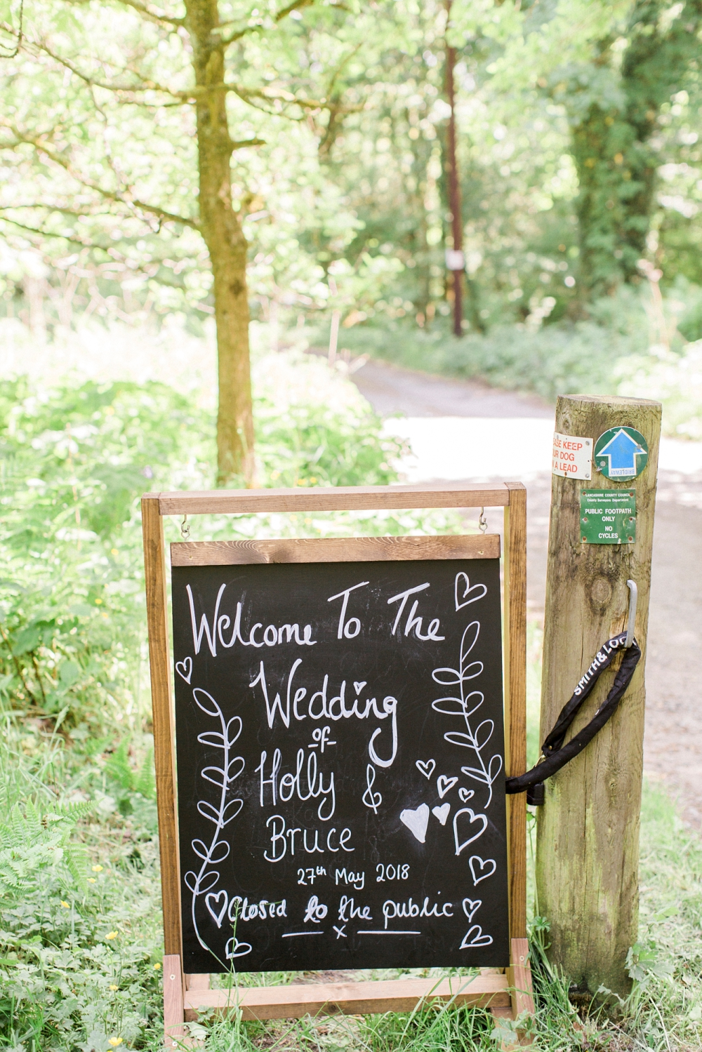 Holly and bruce chalkboard wedding sign
