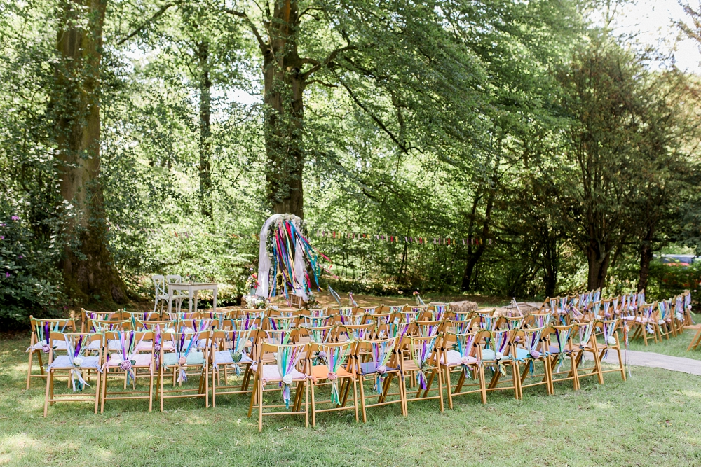 outdoor woodland wedding lancashire