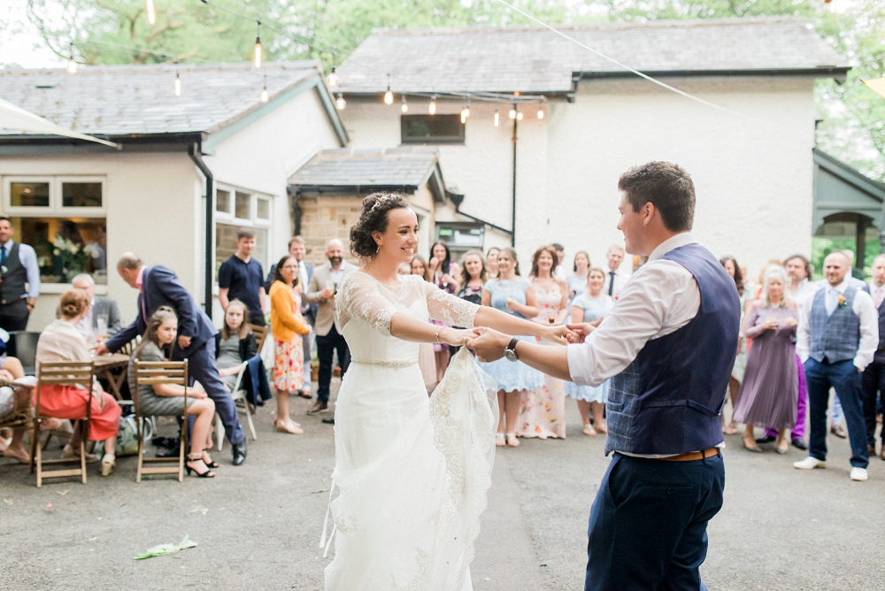 spring cottage wedding reception
