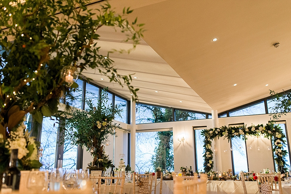 winter wedding at west tower