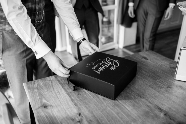 gift box for the groom