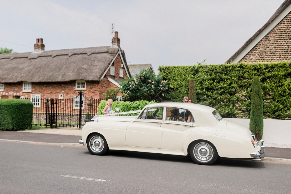 wedding car in lytham