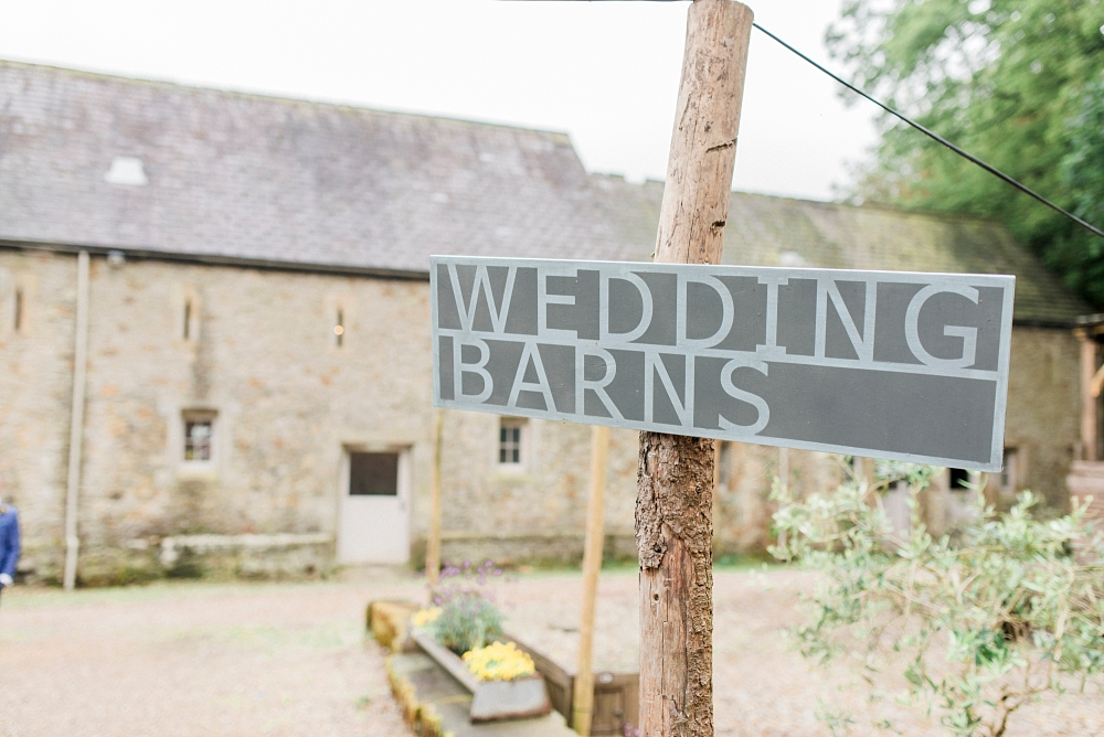 wyresdale park wedding sign