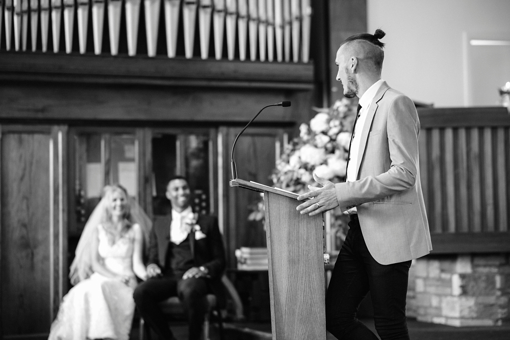 preacher takes wedding ceremony bury