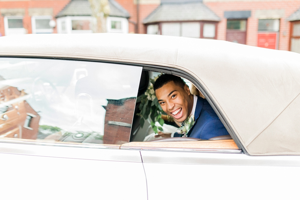 groom leaving in car