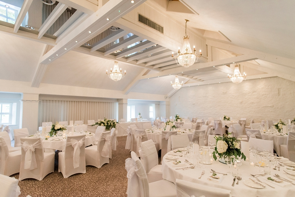 wedding breakfast room at Stanley House
