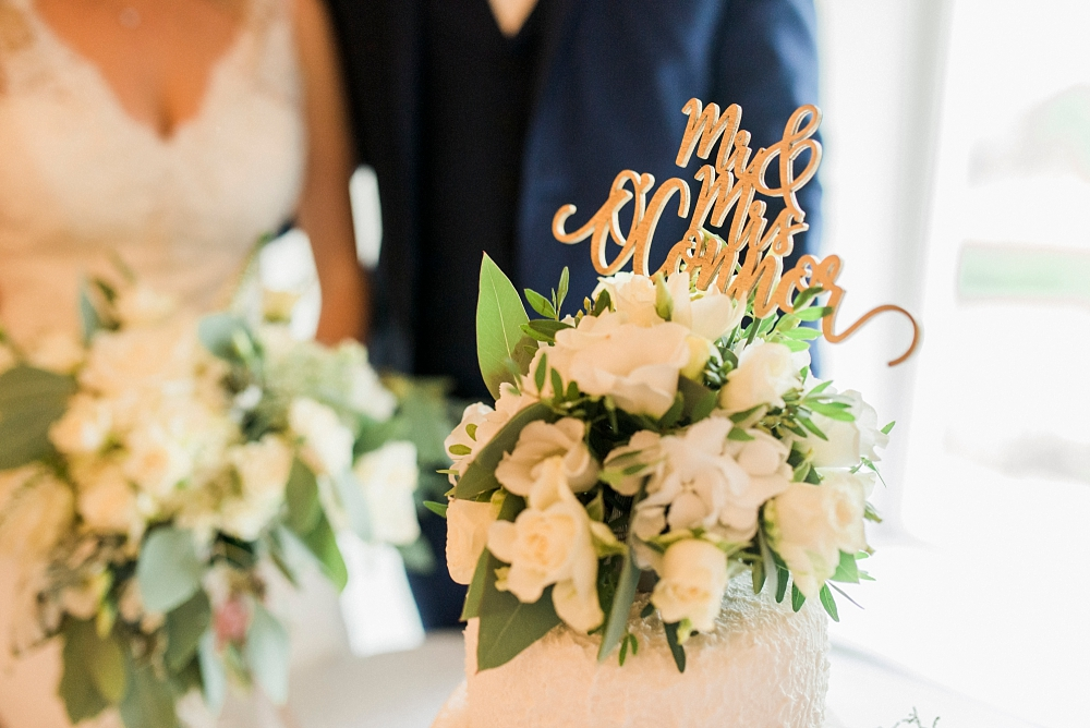Mr and Mrs O'Connor cake topper