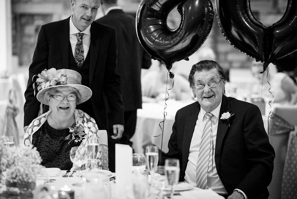 brides grandparents at wedding