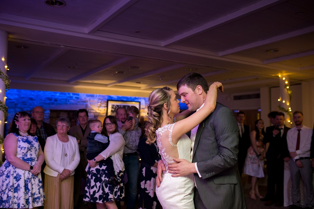 first dance photo at stanley house hotel
