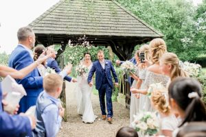 confetti at norcliffe chapel
