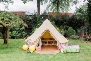 bell tent for children at wedding