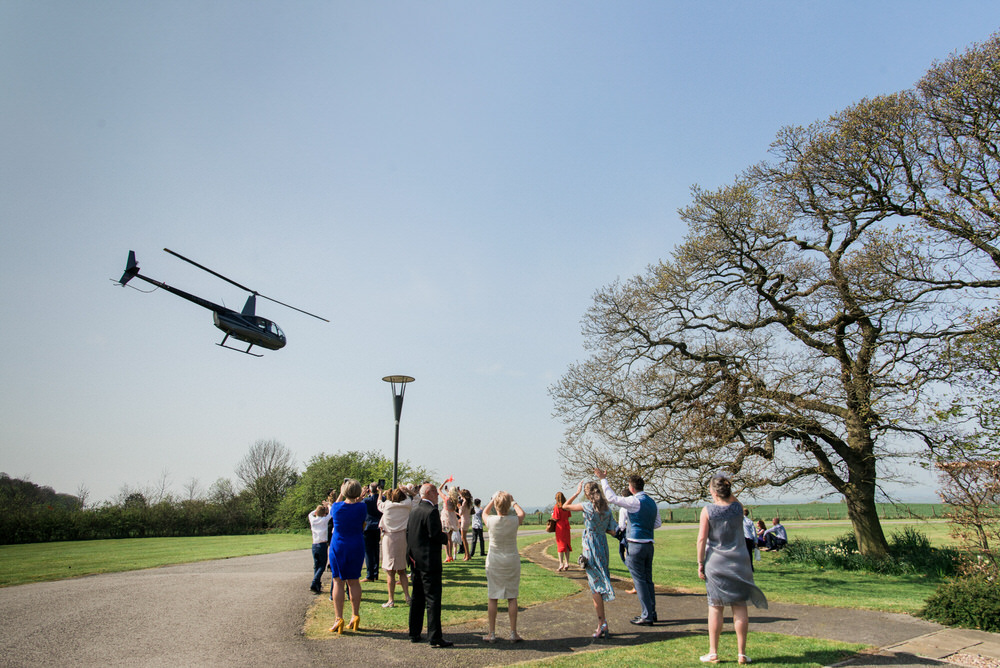 Stanley house wedding helicopter