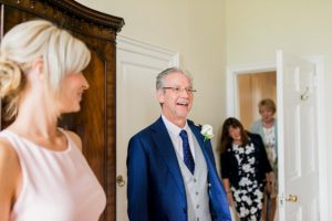 father of the bride's reaction at seeing his daughter