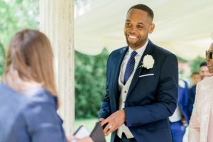 best man gets the rings ready