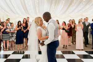 first dance in marquee at Ardington house