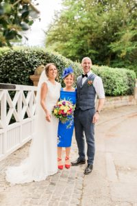 Chester wedding photography bride and groom with mum