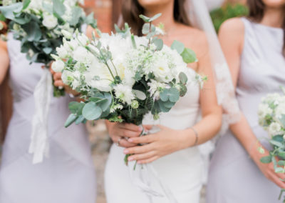 wedding bouquet with eucalyptus