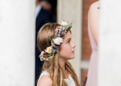little bridesmaid with flower crown