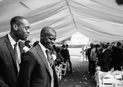 best man reassures groom