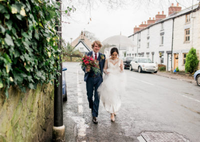 SCORTON WEDDING IN THE RAIN