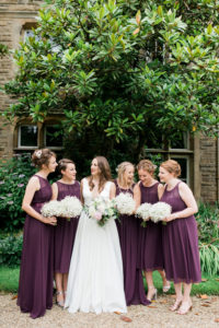 bride and bridesmaids photo at wyresdale park