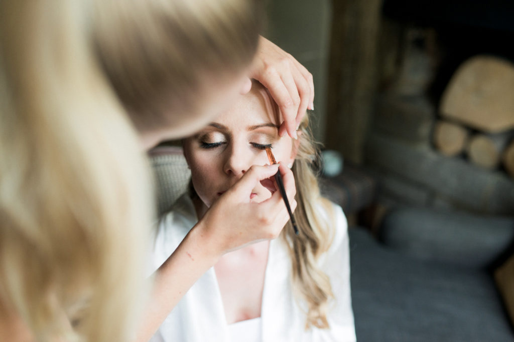 Oxford hair and make-up with bride