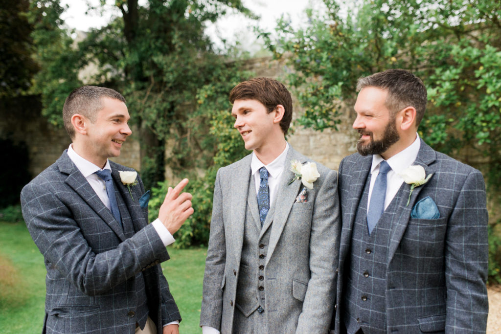 groomsmen chatting