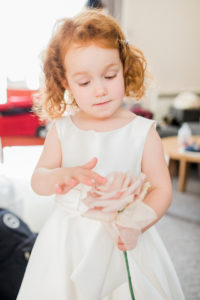 flower girl with ginger curls