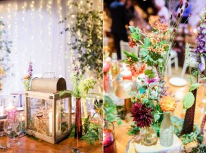 colourful rivington barn wedding