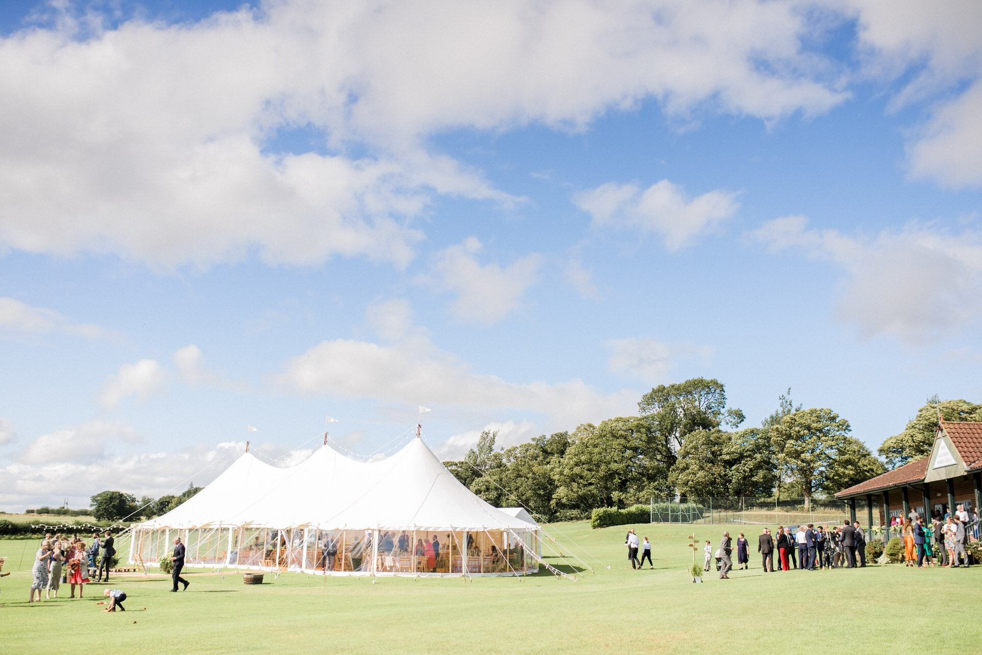 marquee at crayke sports club