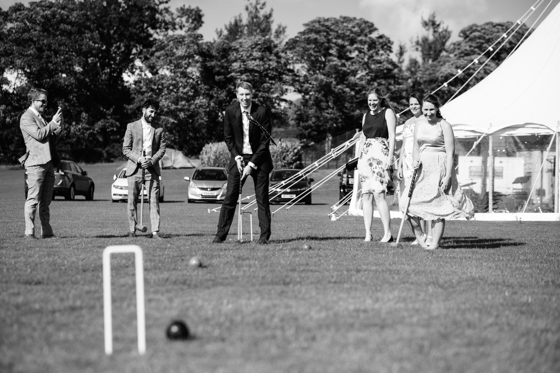 croquet on the field at crayke sports club