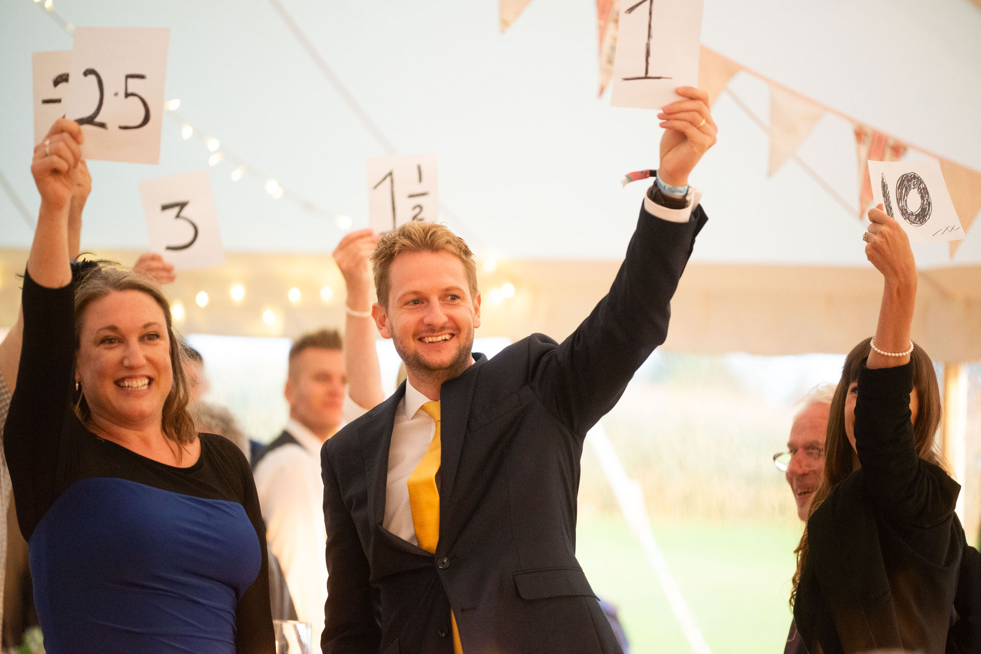 guests score the speeches