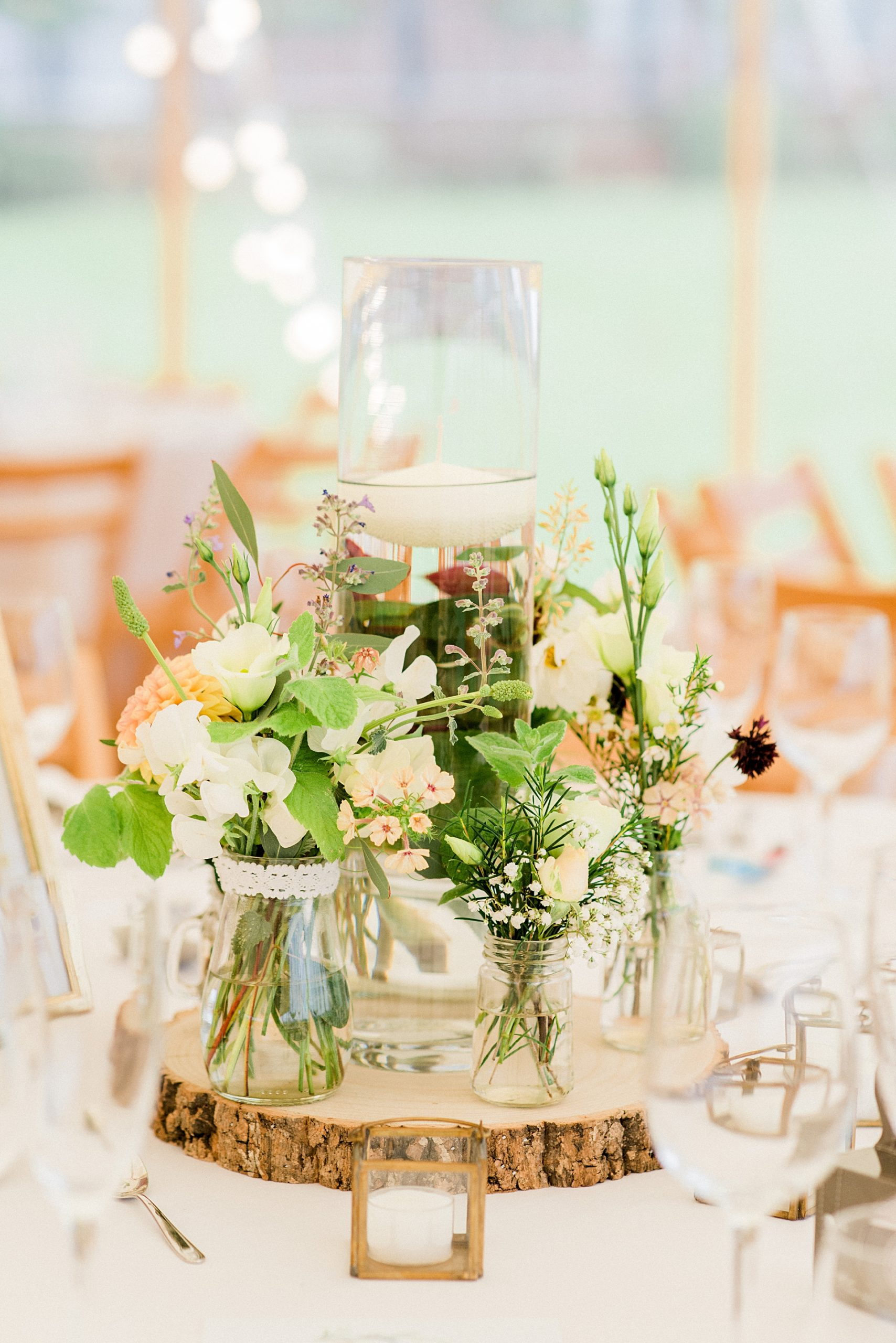 table details at North Yorkshire marquee wedding