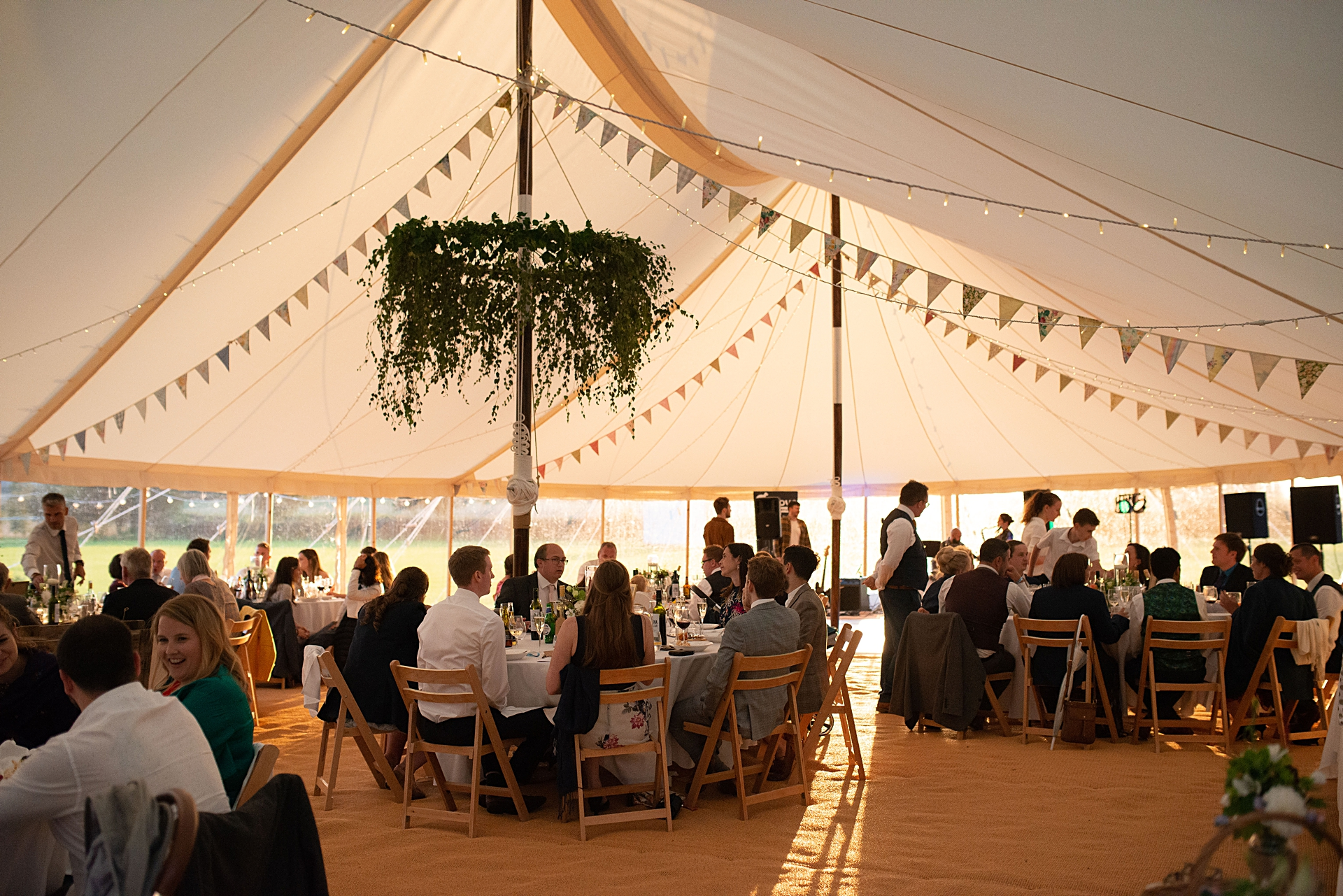 marquee wedding in North Yorkshire