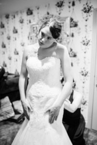 bride getting ready at the wellbeing farm