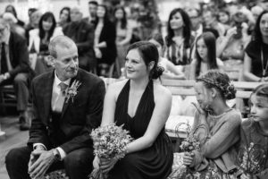 guests at the wellbeing farm wedding ceremony