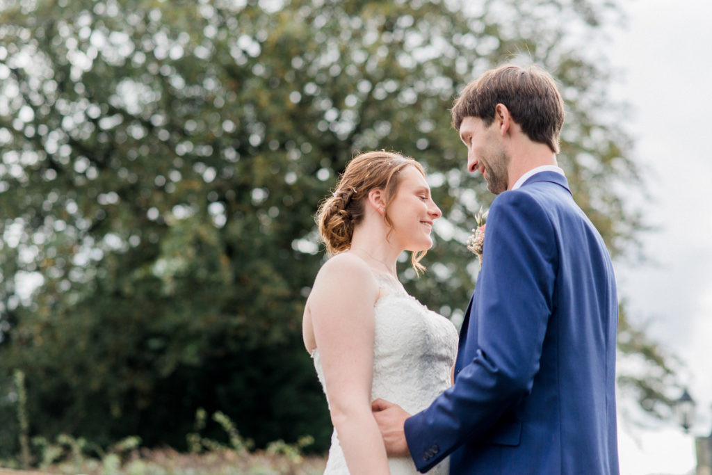 bride and groom at wellbeing farm