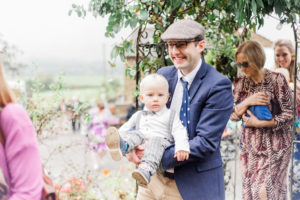 wedding guests arrive at the wellbeing farm