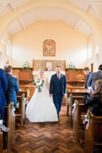 just married in church and about to leave