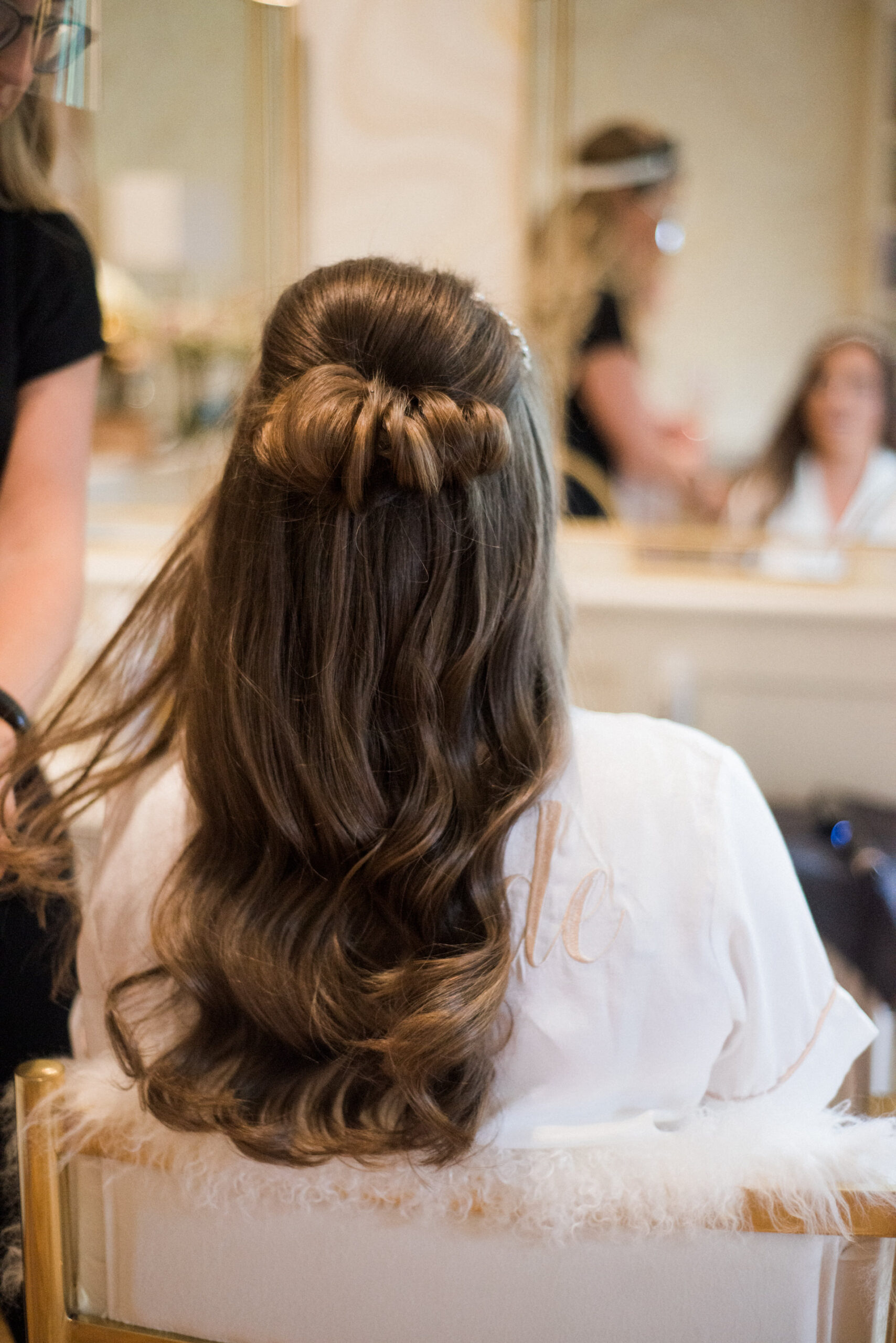 bridal hair at colshaw hall