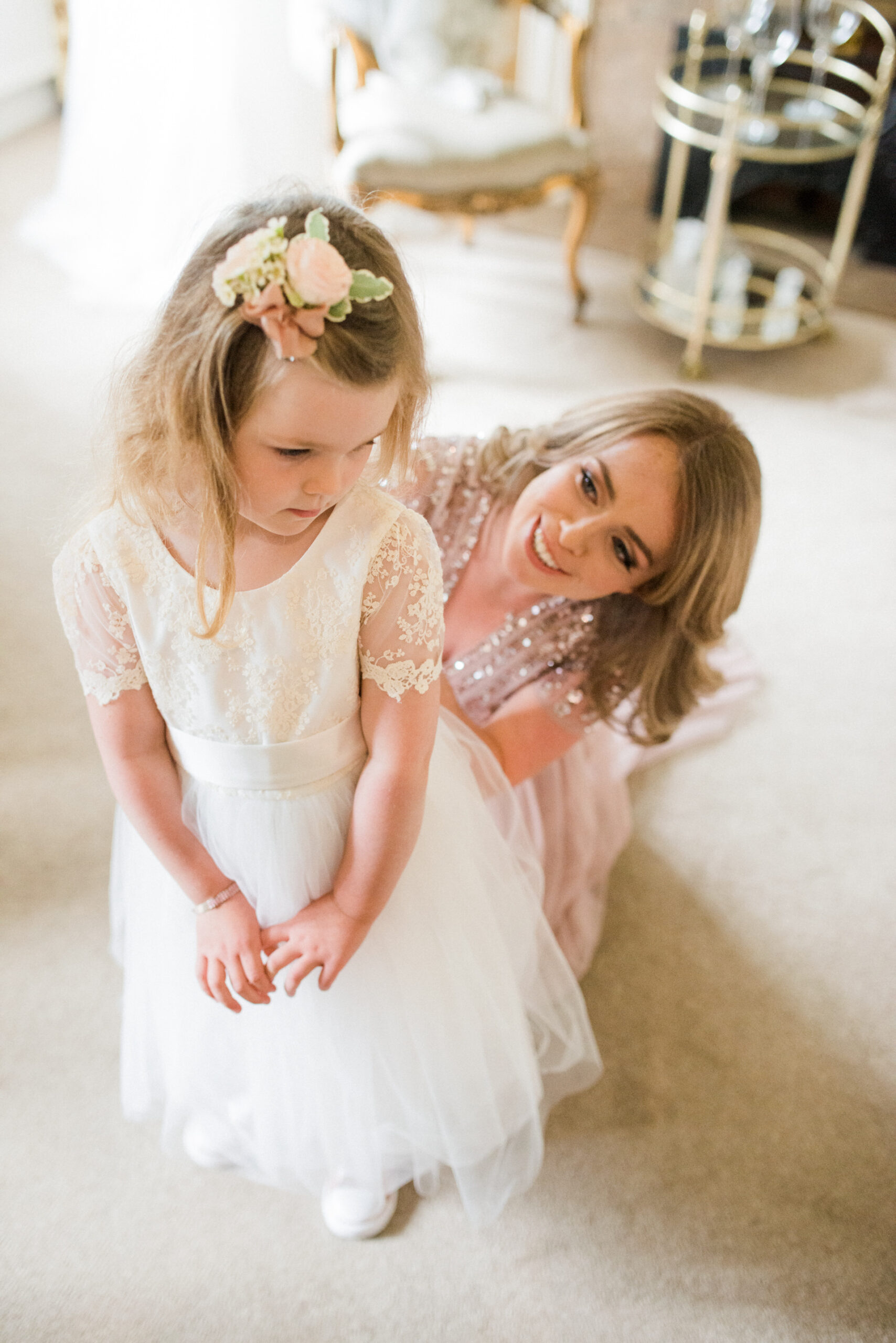 flower girl at colshaw hall