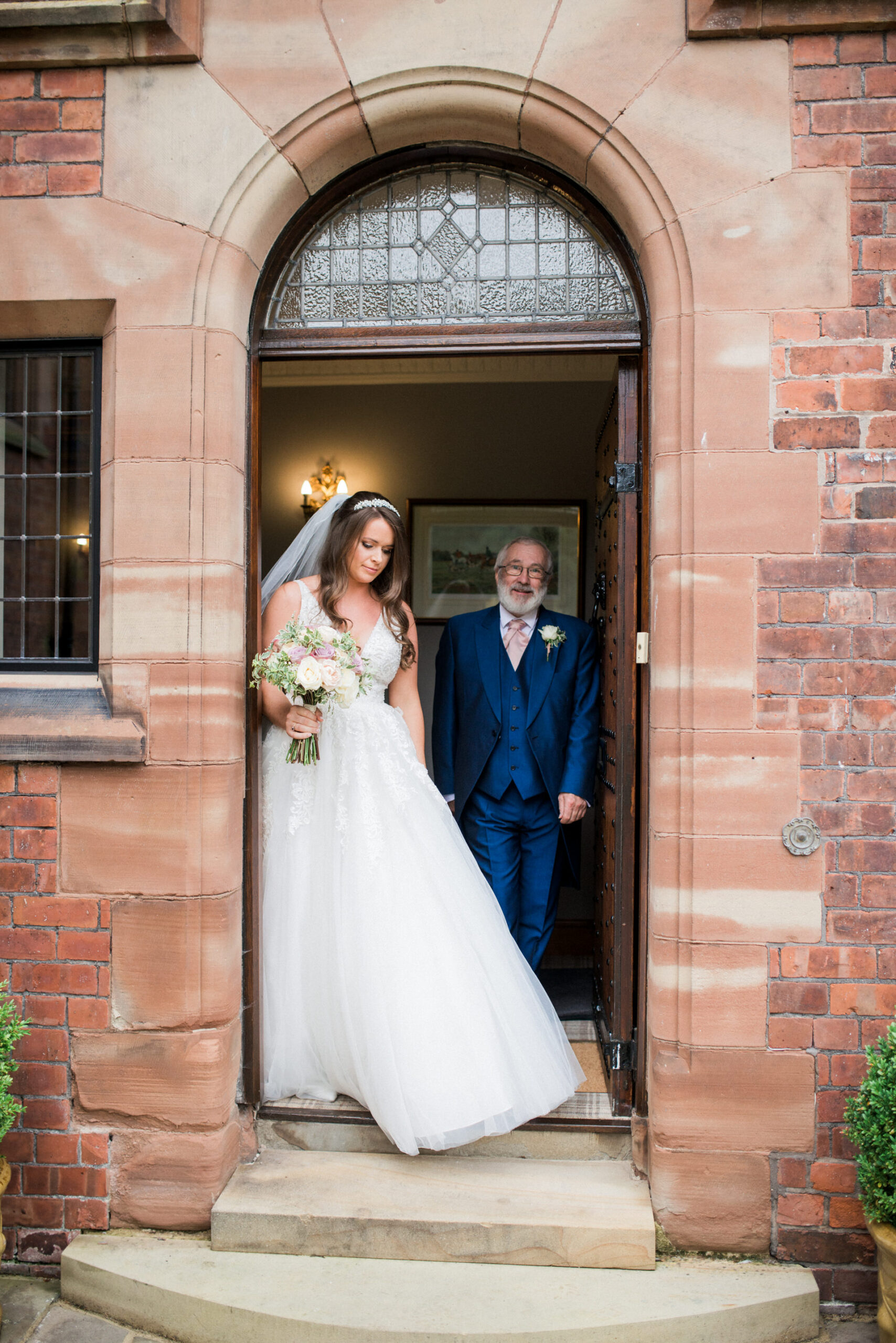 bride and her dad at colshaw hall