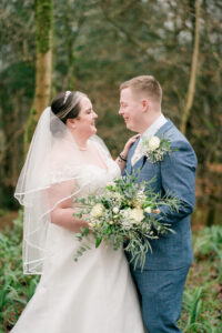 bride and groom at Lake District elopement
