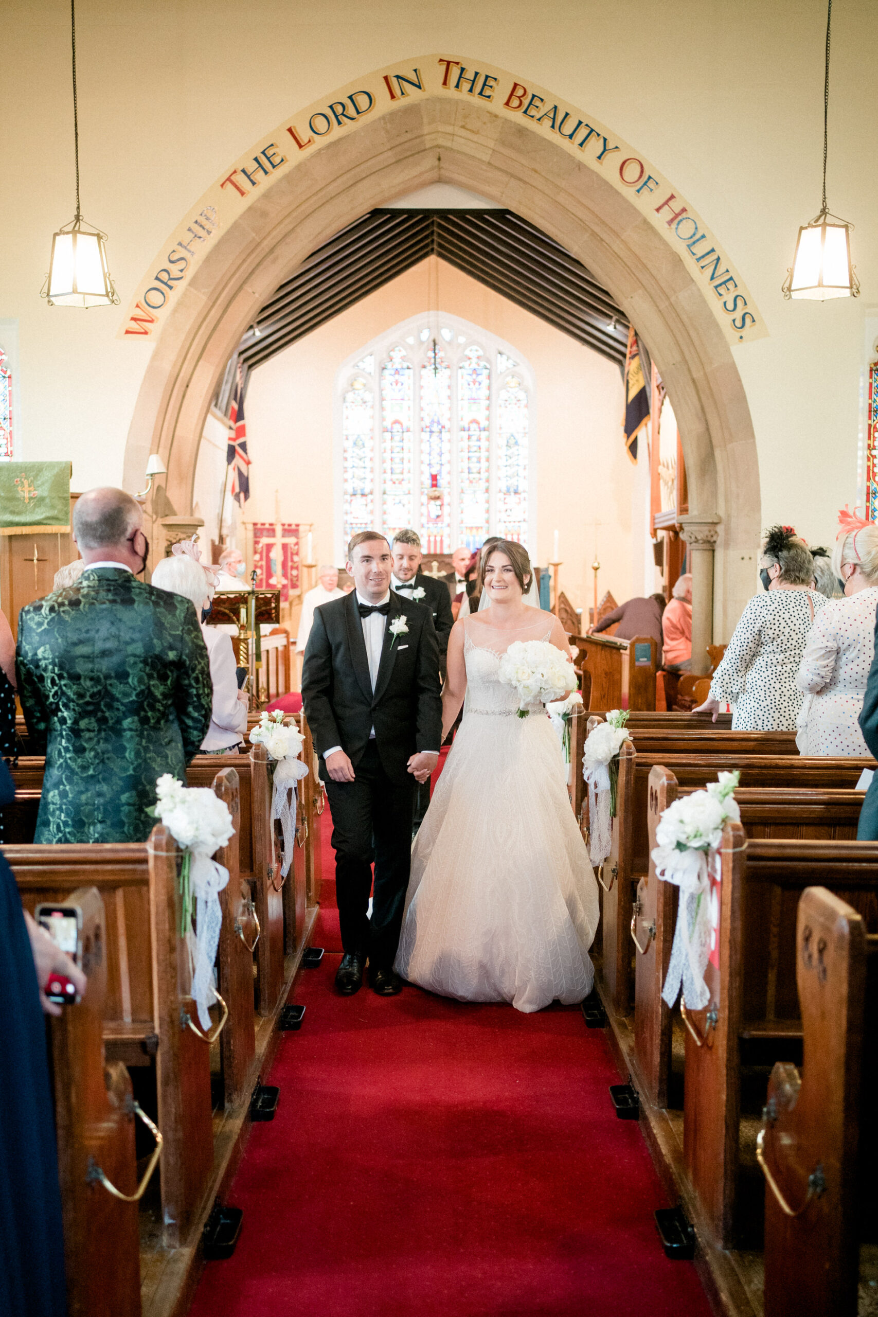 just married couple leave mawdesley church