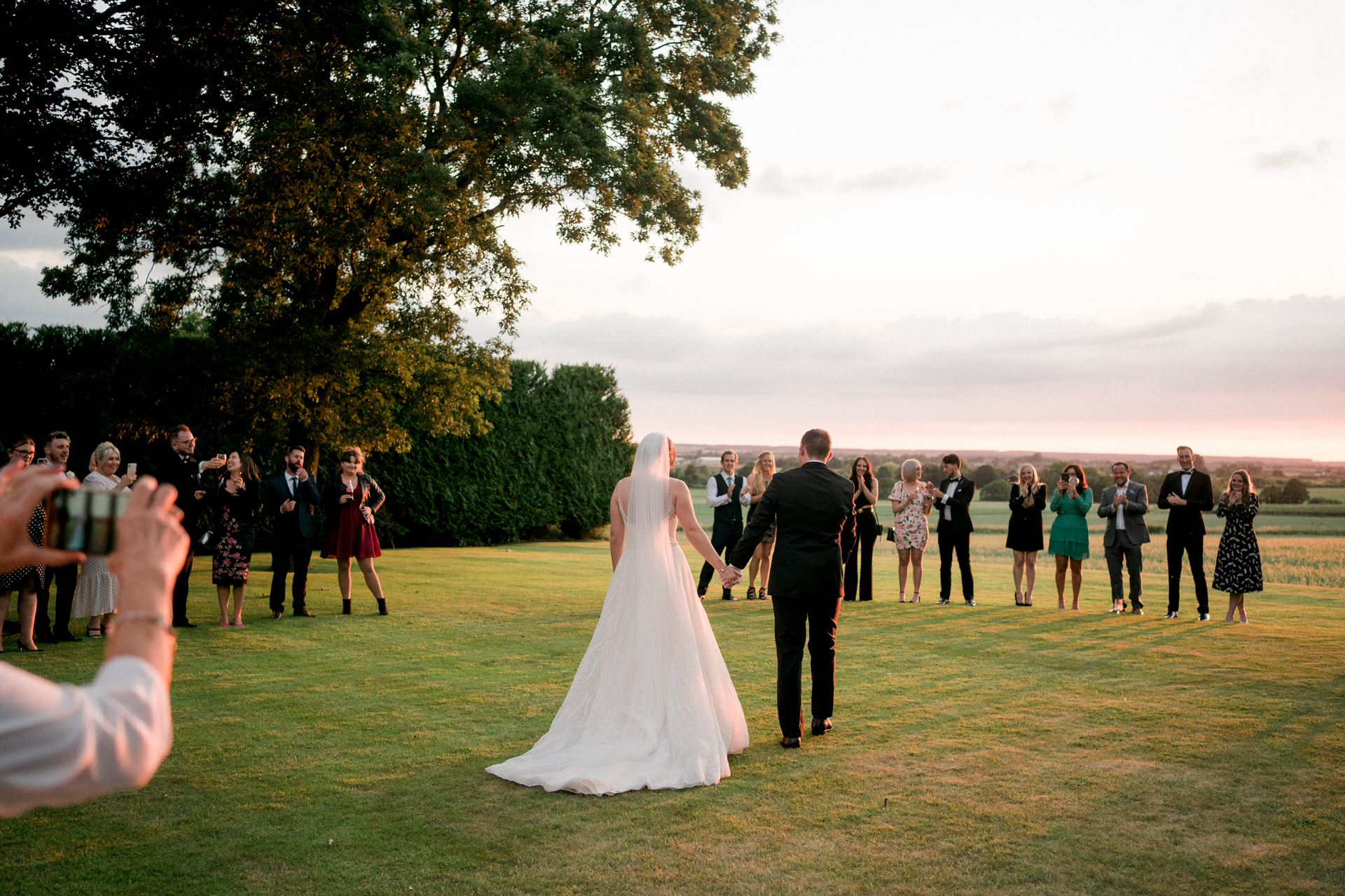 first dance outdoors at west tower wedding