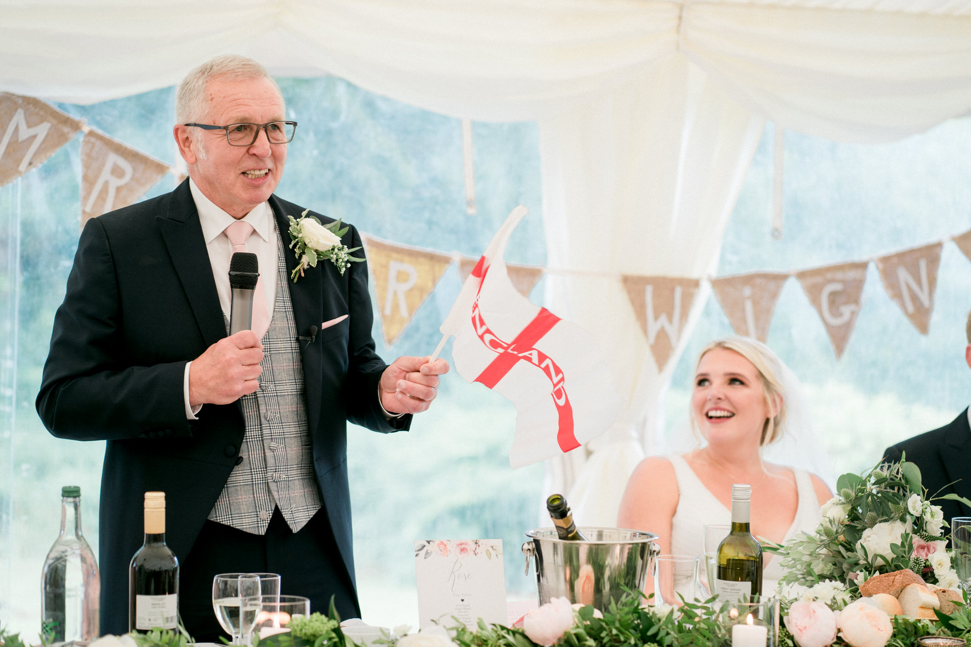 marquee wedding at home in Lancashire