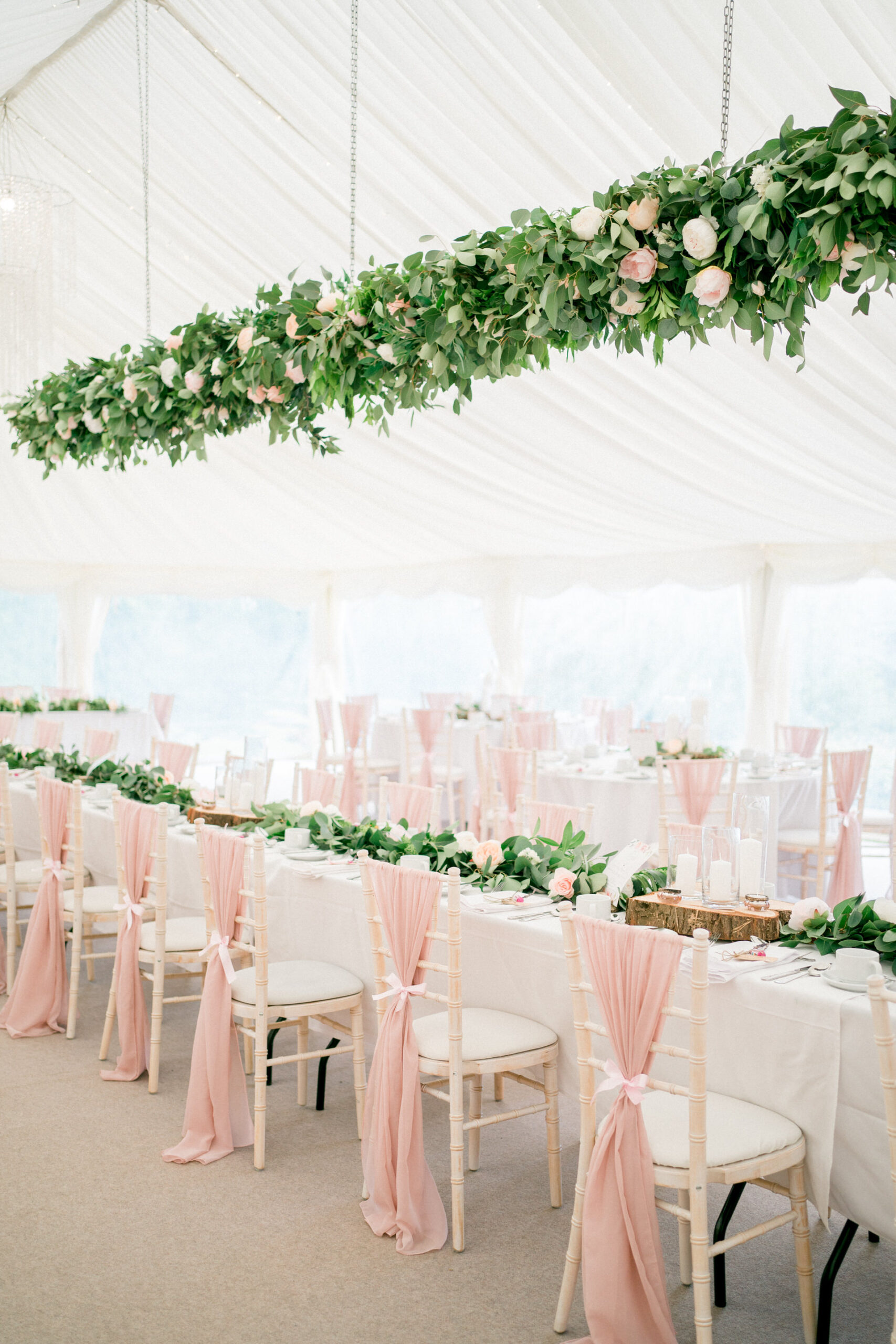 a marquee wedding at home
