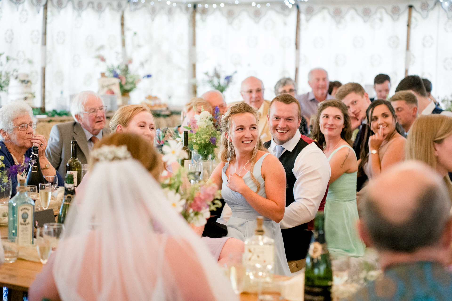 marquee wedding in winchcombe