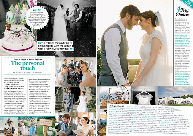 A REAL WEDDING FEATURE IN YORKSHIRE BRIDE 2016